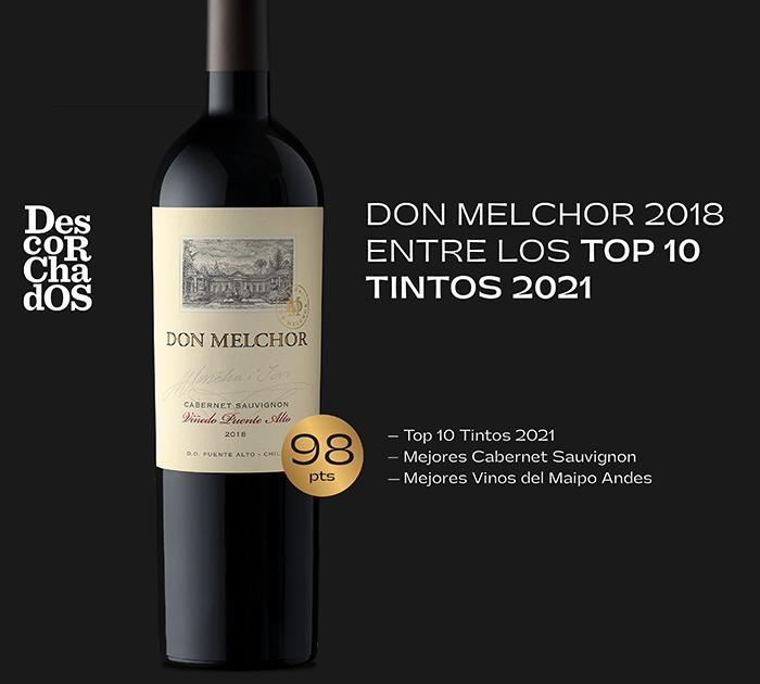 Gran reconocimiento obtuvo Don Melchor 2018 en Descorchados 2021