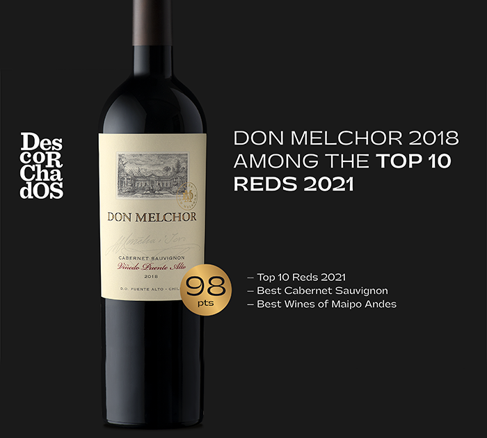 Great acknowledgement for Don Melchor 2018 in Descorchados 2021