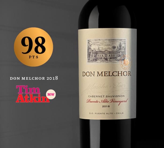 Tim Atkin destaca o Don Melchor 2018 com 98 pontos